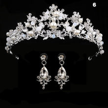 Load image into Gallery viewer, Royal Crystal Crown Earring Set - crown-modern