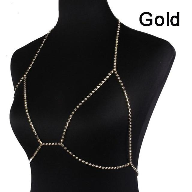 Francesca Diamond Body Chain - crown-modern