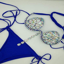 Load image into Gallery viewer, Crystal Carnival Mardi Gras Bikini - crown-modern