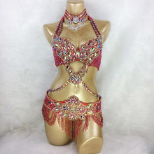 Load image into Gallery viewer, Crystal Belly Dancer Costume - crown-modern