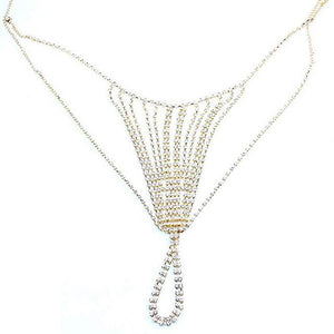 Rhinestone Lingerie Body Chain - crown-modern