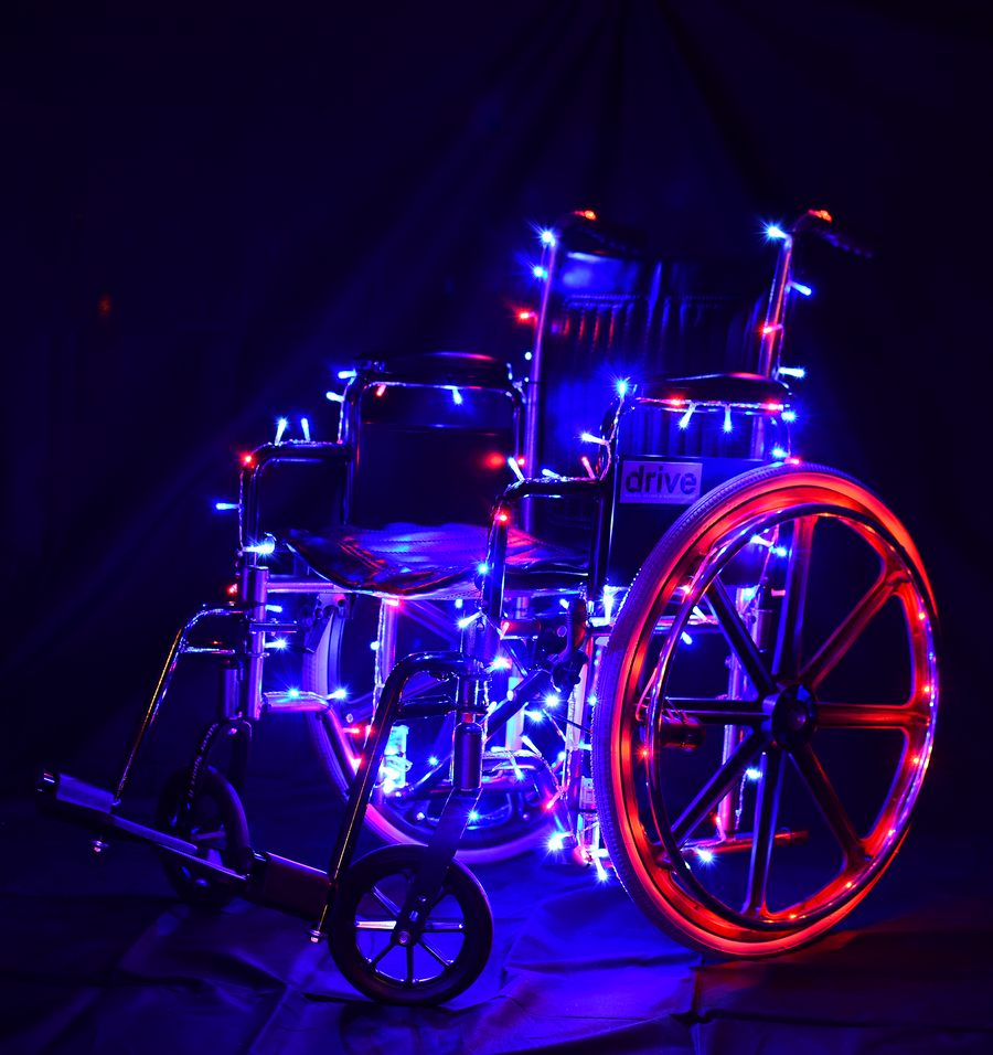 Battery Powered Led Lights Strollers Wheelchairs Bikes