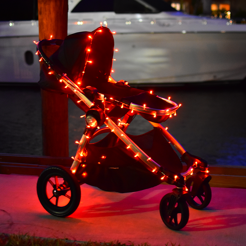 Battery powered led lights strollers wheelchairs bikes bedazzlelit bedazzlelit 60 led lighting strip orange aloadofball Image collections