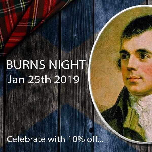 "Sing ""Auld Lang Syne"" tonight and celebrate Burns Night with 10%"