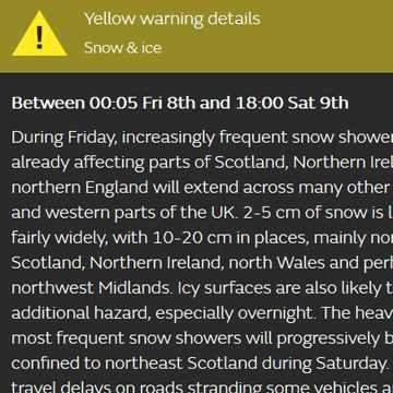 WEATHER WARNINGS ISSUED!