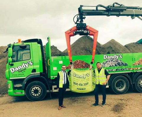 Jack Sargeant MS with Adam Dandy and a Dandys Delivery Truck
