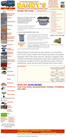 Dandys launch first website selling soil, turf, gravel and bark in UK