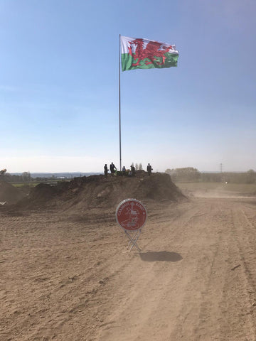 Largest Welsh Flag in UK raised at Dandys Topsoil