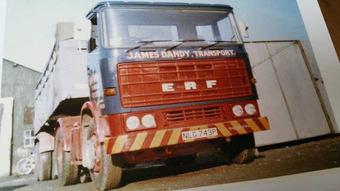 Dandys ERF 8 wheeler bulk tipper at Chester 1970's.