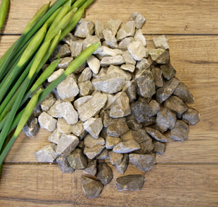 White/Grey Limestone Gravel Chippings Sample