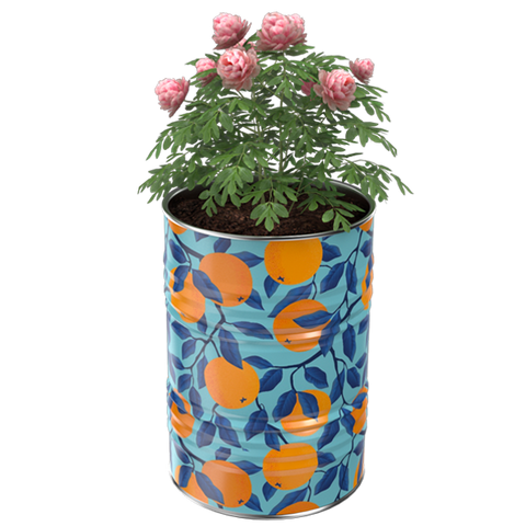 Image of Decorative Barrel Planter