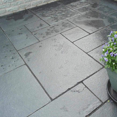 Image of Black Limestone Natural Stone Paving | Dandys