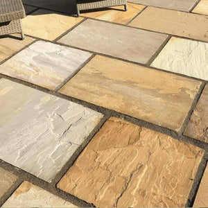 Buff Blend Sandstone Natural Stone Paving | Dandys