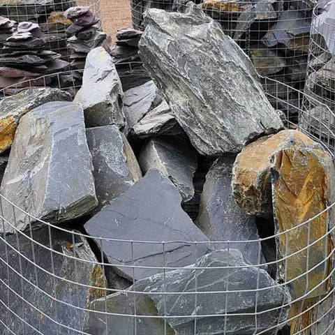 Graphite Grey Slate Rockery | Dandys