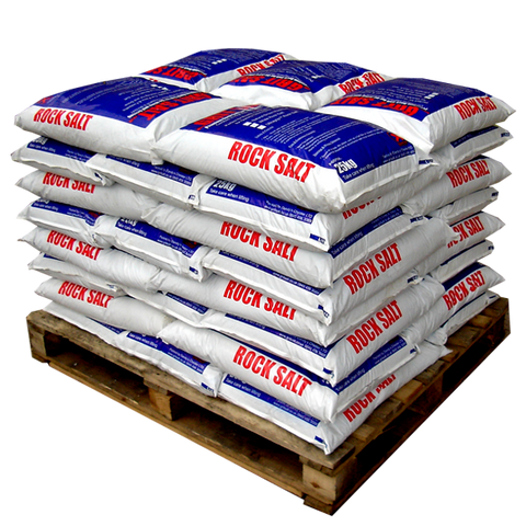 Brown Rock Salt Small Bags - Dandy's Topsoil, Rock Salt & Landscaping Supplies