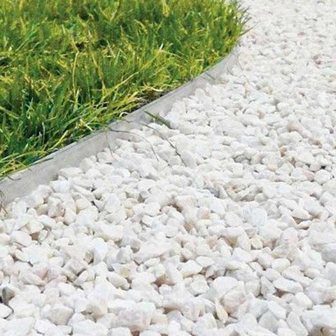 White Marble Chippings Bulk Bag