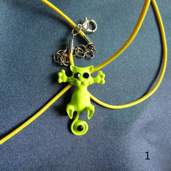 COLORFUL FUNKY CAT PENDANT