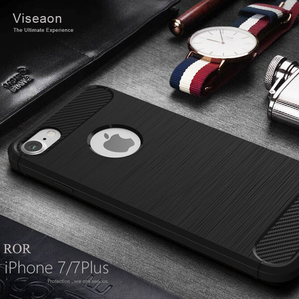Anti-knock Case For iPhone 7 7 Plus  Soft Silicone Back Cover Case for iPhone 7 7 Plus 5 5s 6 6s Plus Phone Bag Cover TPU Coque
