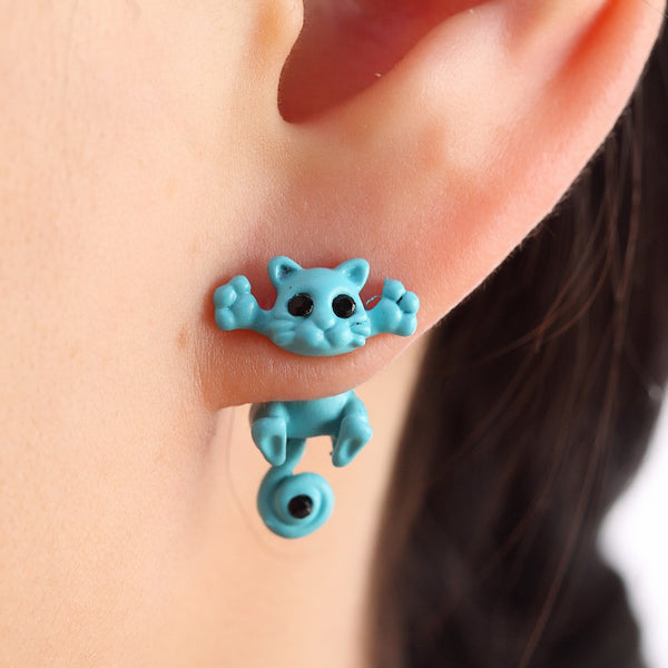 COLORFUL FUN CAT STUD EARRINGS OFFER