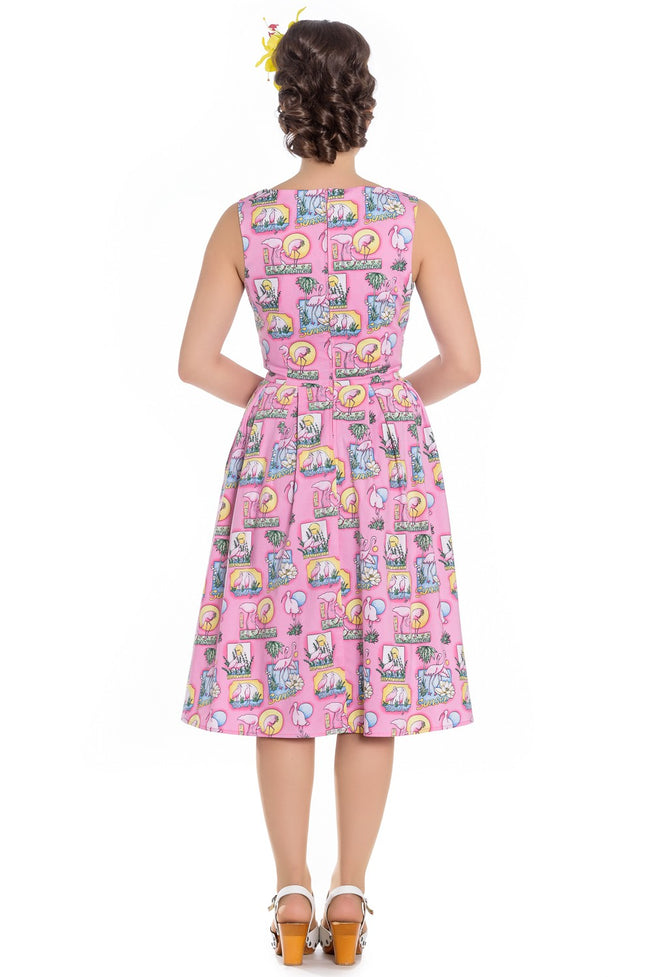 Maxine Flamingo Reproduction 1950s Dress REDUCED