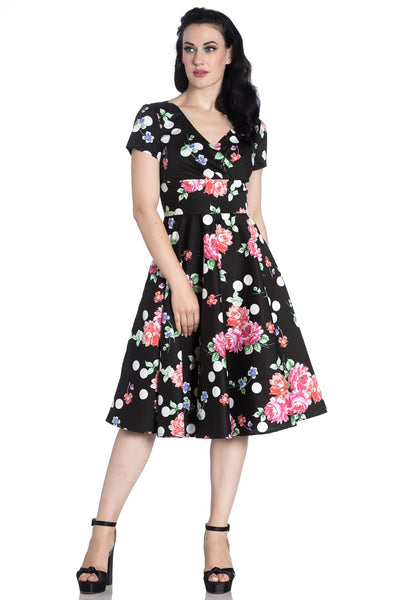 HELL BUNNY COLLARETTE 50'S DRESS