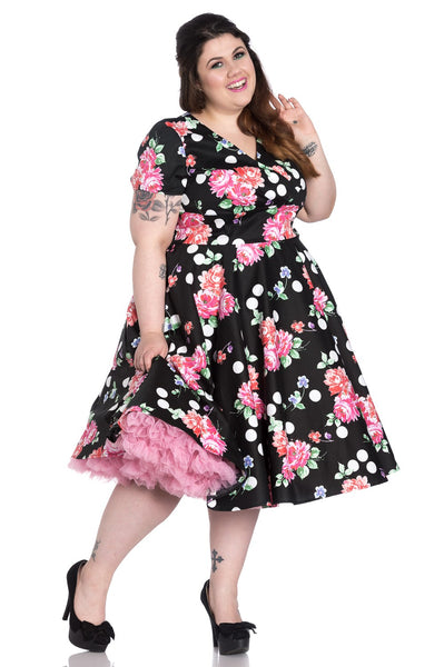 HELL BUNNY COLLARETTE 50'S DRESS PLUS SIZE