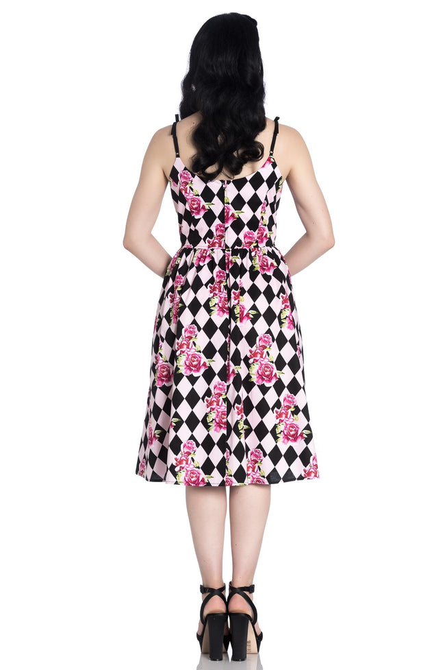 Hell Bunny Harlequin 50s Dress