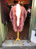 Luxury Woman's Faux Fur Oversized Pink Wrap