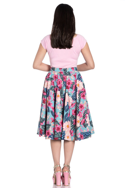 HELL BUNNY 50s Style Lotus Flower Skirt