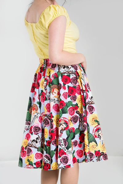HELL BUNNY 50s Style Mexico Skirt