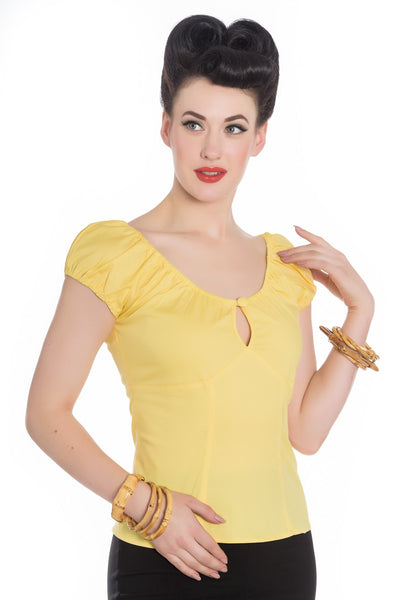 Hell Bunny Yellow Melissa Top