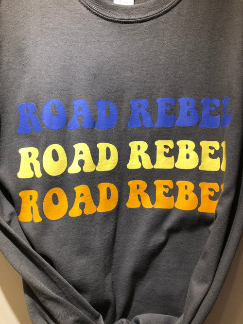 GREY Road Rebel Printed 90s Retro T-Shirt UNISEX