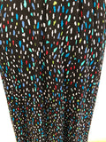 Vintage 80s Black Multi Abstract Print Skirt Medium