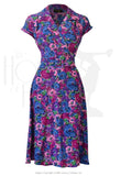 House of Foxy 40s Gracie Wrap Dress - Bloomsbury