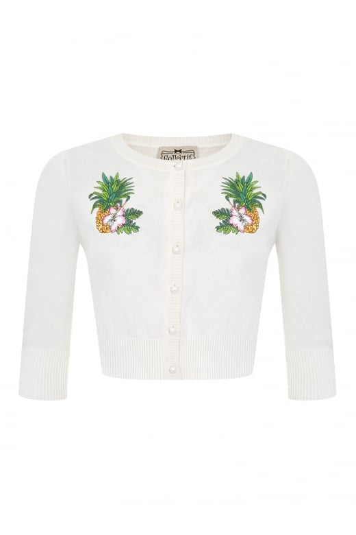 Collectif Mainline Lucy Pineapple Cardigan