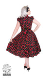 Black Cherry Blossom Reproduction 1950s Dress