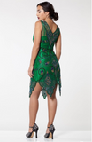 EMMA VINTAGE 1920s GATSPY INSPIRED FLAPPER DRESS IN GREEN