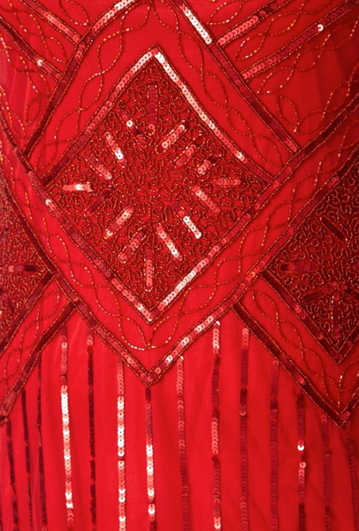 ISOBEL 1920's GATSBY VINTAGE INSPIRED FRINGE DRESS IN RED