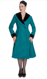 Hell Bunny Vivien Teal Swing Coat