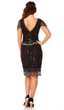 EVA VINTAGE GATSBY 1920's INSPIRED FLAPPER DRESS IN BLACK