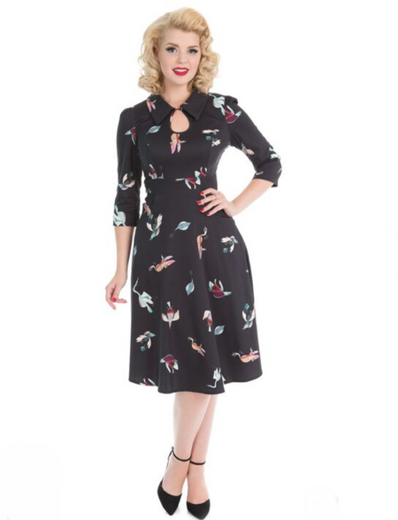 House of Foxy 40s Grable Tea Dress - Crocus