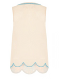 JEAN VINTAGE INSPIRED EMBELLISHED TOP IN NUDE BLUSH