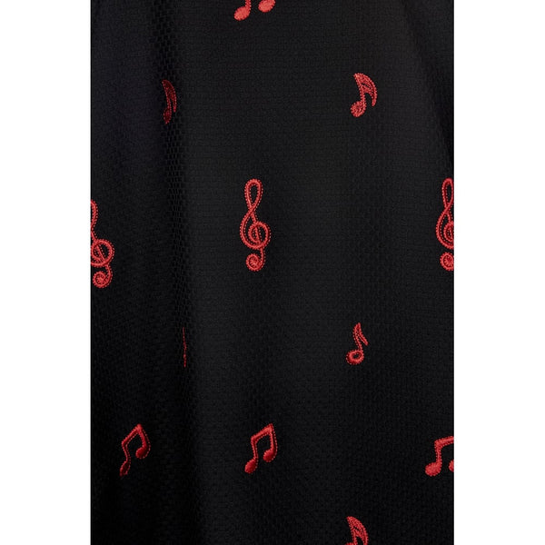 COLLECTIF MAINLINE DELPHINE MUSIC NOTES FLARED DRESS
