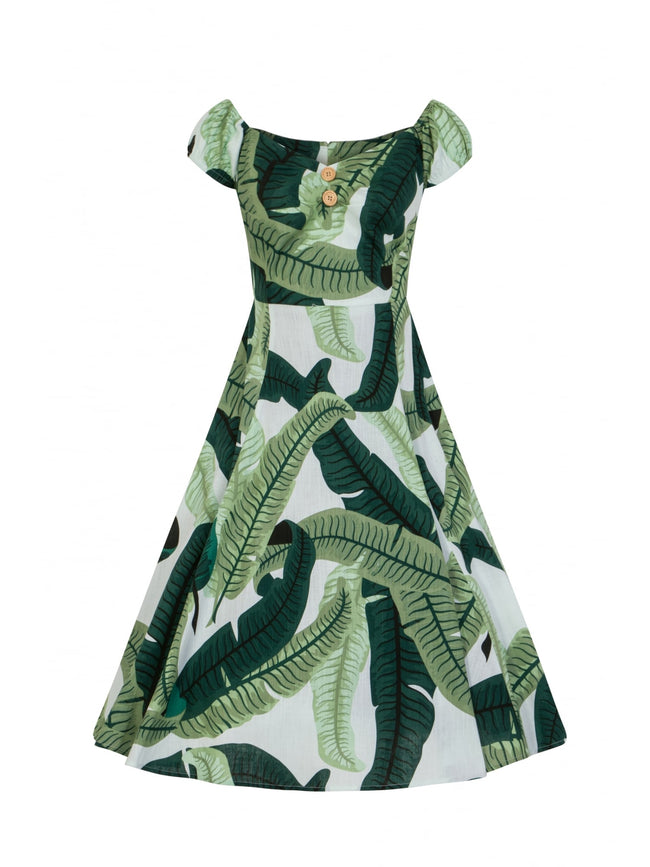 VINTAGE DOLORES BANANA LEAF DOLL DRESS