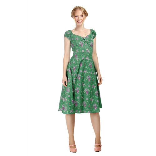 Collectif Mainline COLLECTIF MAINLINE DOLORES CLASHING FLORAL DOLL DRESS