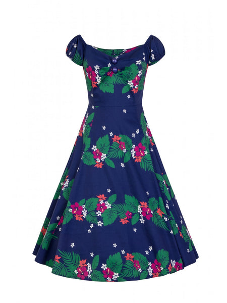 COLLECTIF MAINLINE DOLORES TAHITI  DOLL DRESS