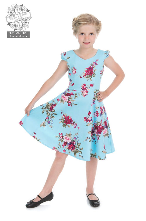 Hearts & Roses Pale Blue Royal Ballet Tea Dress (KIDS)