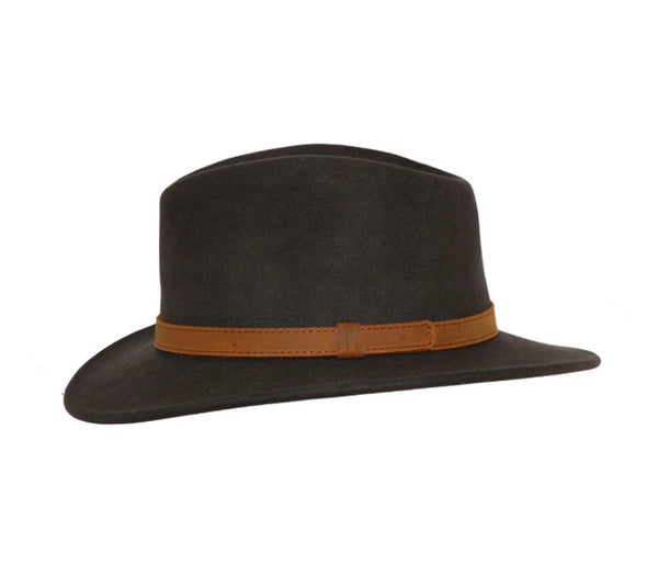 Brown Wool Fedora Hat