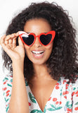 Loulou Red Heart-shaped Sunglasses