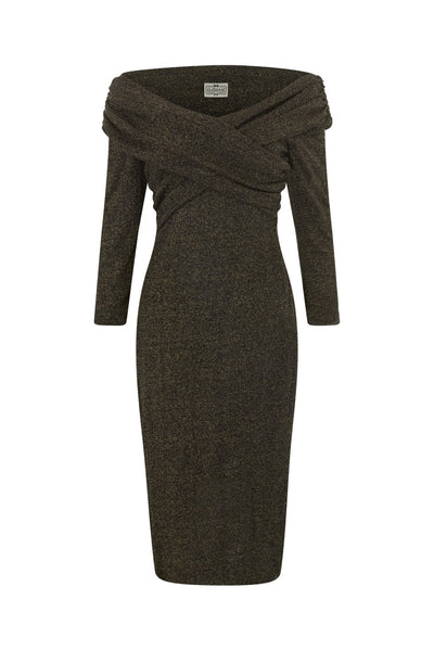COLLECTIF VINTAGE HOLLIE LUREX WIGGLE DRESS